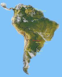Lateinamerika Karte
